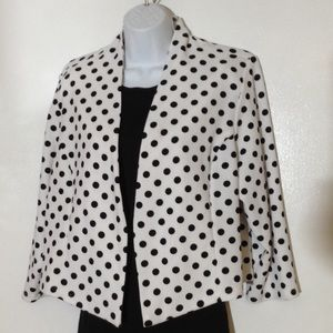 Polka dot suit jacket